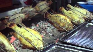 preview picture of video 'Chonburi market BBQ fish'
