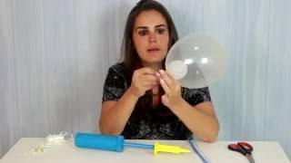 Uma super dica para decorar a mesa na sua festinha, passo a passo de como fazer um lindo centro de mesa em balões (bexigas) coberta com tule!!!! Nas cores do vídeo fica perfeito para  as festinhas no tema FROZEN!!!!  www.amofestas.com