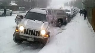 Нарезка авто на ледяных горках зима пришла неожиданно