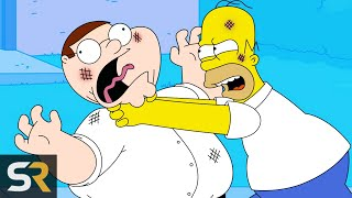 20 Times Family Guy And The Simpsons Dissed Each Other