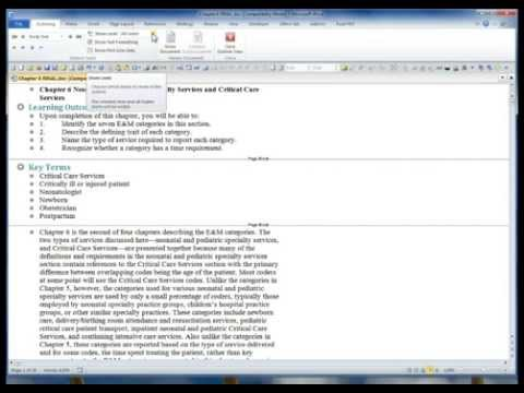 Using Microsoft Word Outline View