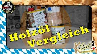 Holzöl Vergleich | PNZ vs OSMO | Wood oil comparison