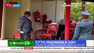 Francis Atwoli arrives at state House for Madaraka day celebrations