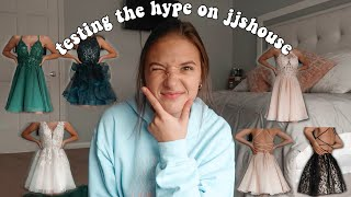 ♡trying on jjshouse homecoming dresses! are they worth it?♡