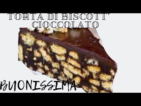 Torta di Biscotti e Cioccolato,senza Cottura