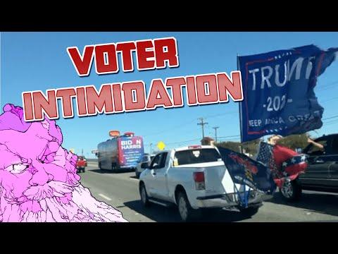 Pro-Trump Truck Caravan ATTACKS Biden Bus, Terrorizes Campaigners into Silence