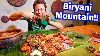 Extreme Malaysian Food!! BIRYANI MOUNTAIN + Smoked Goat Leg - Unseen Eating Experience!!