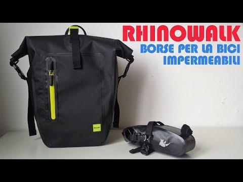 RECENSIONE: Rhinowalk Borse impermeabili per la bici