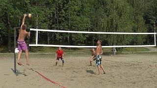 Пляжный волейбол. Мужчины. Третий корт. Первая пара.