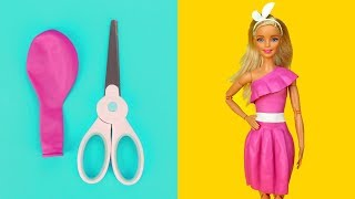 👗 DIY Barbie Dresses with Balloons Part 3 Making Easy No Sew Clothes for Barbies Creative for Kids