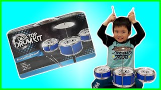 Desktop Drum Kit unboxing, building and playing