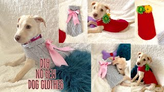 EASY D.I.Y. DOG CLOTHES (NO SEW) / FUR BABY FASHION QUICK AND FAST