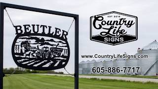 Custom Metal Farm And Ranch Signs