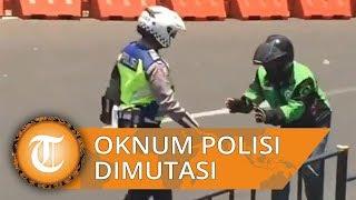 Polisi yang Menendang Ojol Dimutasi meski Sudah Minta Maaf