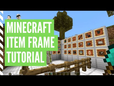 How To Make An Item Frame In Minecraft - Minecraft How To