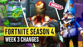 Fortnite | All Season 4 Map Updates and Hidden Secrets! WEEK 3