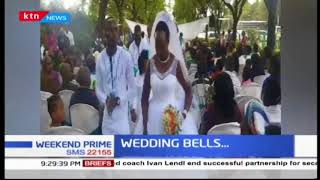 KTN News celebrates one of its video editors Hillary Wanjohi who weds love of his life Loice Ngari