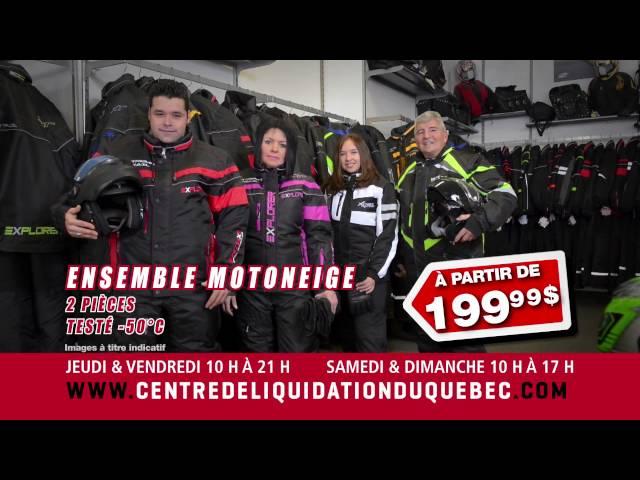Promotions – Ensemble Motoneige – Centre de Liquidation du Québec – Août 2016