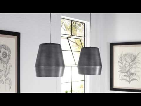 Video for Allea Black and Gold One-Light 13-Inch Pendant