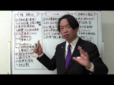 竹内の日本史 戦略図解ボード #059 桂園時代と大正政変