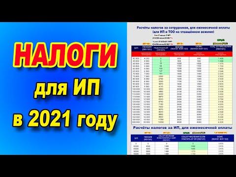 Расчёт налогов за СОТРУДНИКОВ и за ИП для ежемесячной оплаты на 2021 год