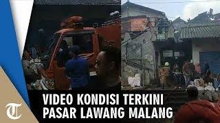 Video Kondisi Terkini Pasar Lawang, Asap Masih Mengepul, Petugas Berusaha Padamkan Asap