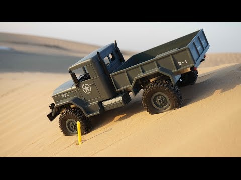 WPL Model 4WD RC Military Truck Off Road Test Drive