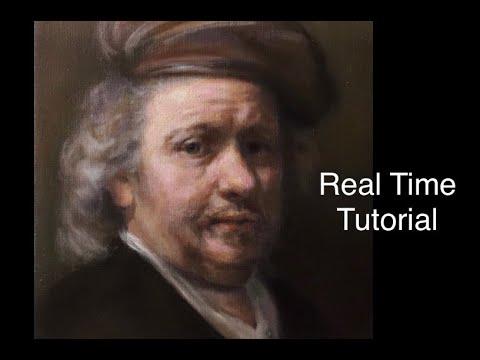 Portrait Painting Tutorial | Rembrandt Oil Painting Demonstration