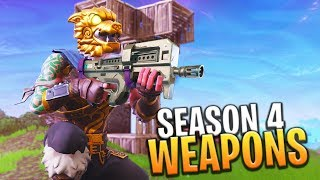 *SEASON 4* NEW WEAPONS AND ITEMS DROPPING - Fortnite: Battle Royale