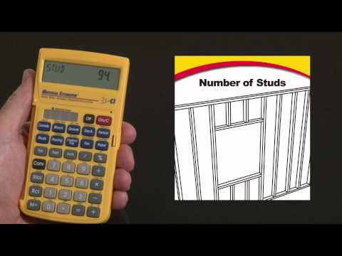 Material Estimator - Number of Studs and Cost