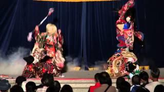 広島護国神社 万灯みたま祭  奉納神楽 「 三上山 」 佐野神楽社中 2013