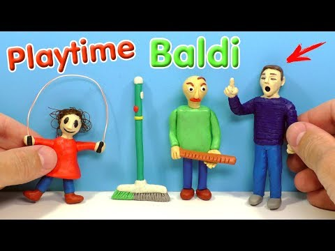 ЛЕПИМ ДЕВОЧКУ СО СКАКАЛКОЙ из игры Baldi's Basics in Education and Learning (видео)