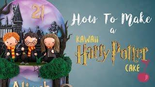 Cute Kawaii Harry Potter Cake Tutorial   How To   Cherry School
