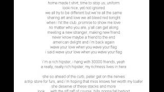 Chrisette Michele Ft  Wale   Rich Hipster Lyrics