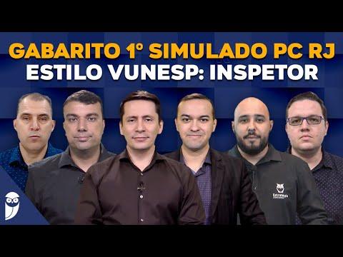 Gabarito 1º Simulado PC RJ - Estilo VUNESP: Inspetor