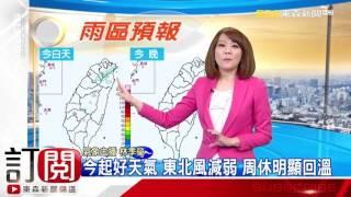 氣象時間 1051112 早安氣象 東森新聞HD