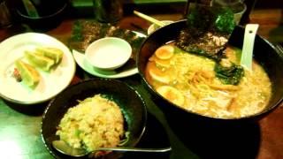 アキーラさんお薦め③横浜家!豚骨醤油家系ラーメン!Yokohamaya-Ramen,Japan