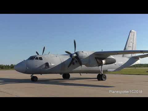 АН-26 RF-36069 запуск, взлет. Engine start, Takeoff. Кубинка. Армия-2018 видео