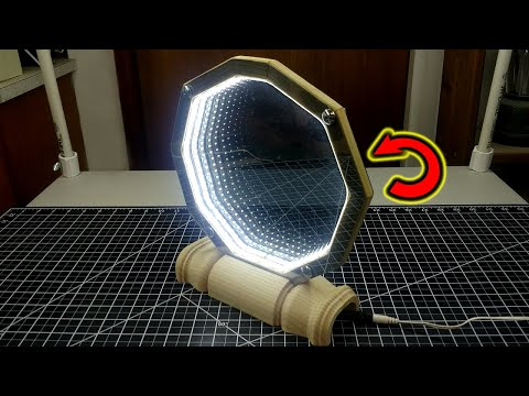 Make a 2 Sided, Desktop Infinity Mirror