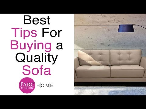 Sofa Buying Tips & What Makes A Great Sofa Review | Parc Modern
