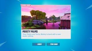 MOISTY IS RETURNING! NEW 'MOISTY PALMS' POI COMING SOON! FORTNITE SEASON X!