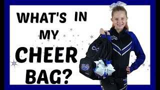 WHATS IN MY CHEER BAG?| CHEERLEADING || Taylor And Vanessa