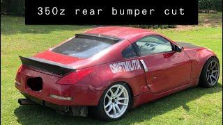 350z rear bumper cut