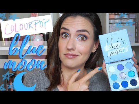 ColourPop BLUE MOON Palette Review!   Swatches + Blue Eyeshadow Tutorial