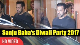 Salman Khan At Sanjay Dutt's Diwali Party 2017 | Sanju Baba's Diwali Party 2017