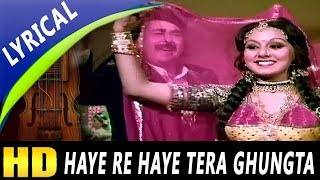 Haye Re Haye Tera Ghungta With Lyrics | Kishore Kumar