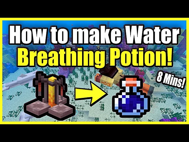How To Make A Potion Of Water Breathing In Minecraft