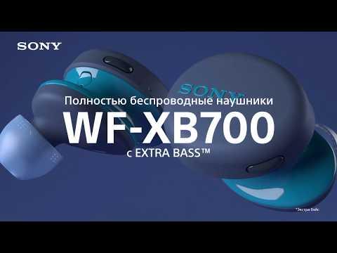 Беспроводные наушники-вкладыши WF-XB700 видео 1