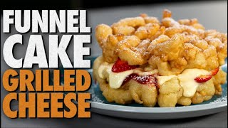 Funnel Cake Grilled Cheese Recipe | Mythical Kitchen