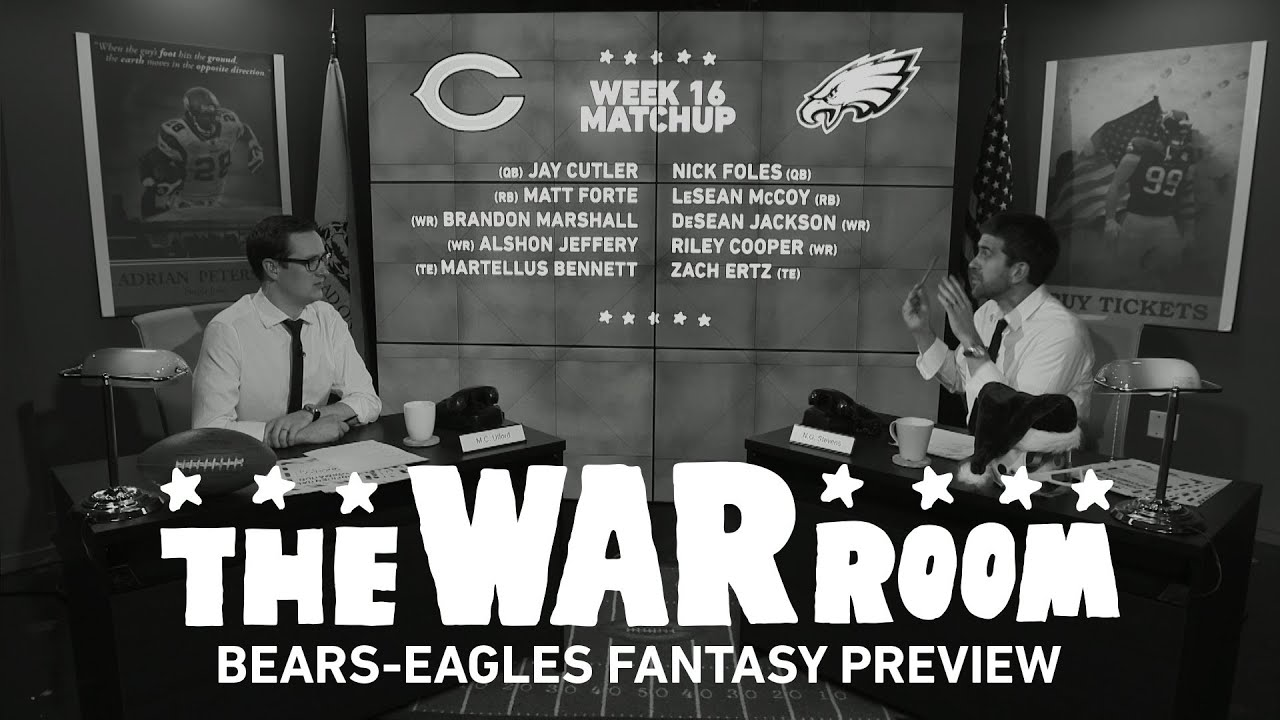 Bears vs Eagles Sunday Night Football Fantasy Preview - The War Room thumbnail